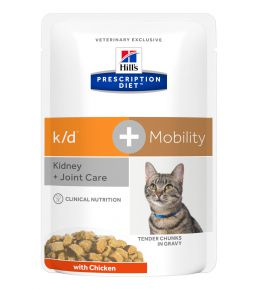 Hill's Prescription Diet k/d + Mobility Feline with Chicken Pouched Meals