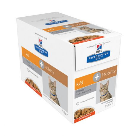 Hill's Prescription Diet k/d Feline with chicken pouches