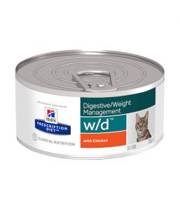 Hill's Prescription Diet w/d Feline minced chicken - canned food