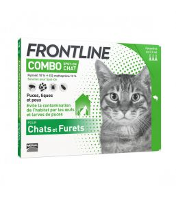 Frontline Combo - Anti-flea and anti-tick pipettes for cat