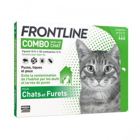 Frontline Combo - Anti-flea and anti-tick pipettes for cat